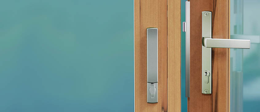 Brio 286DL locking handle added to expanding range of accessories enhancing dual point lock on folding door hardware