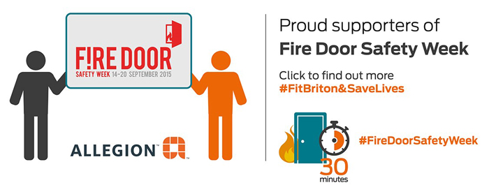 Allegion Supports Fire Door Safety Week