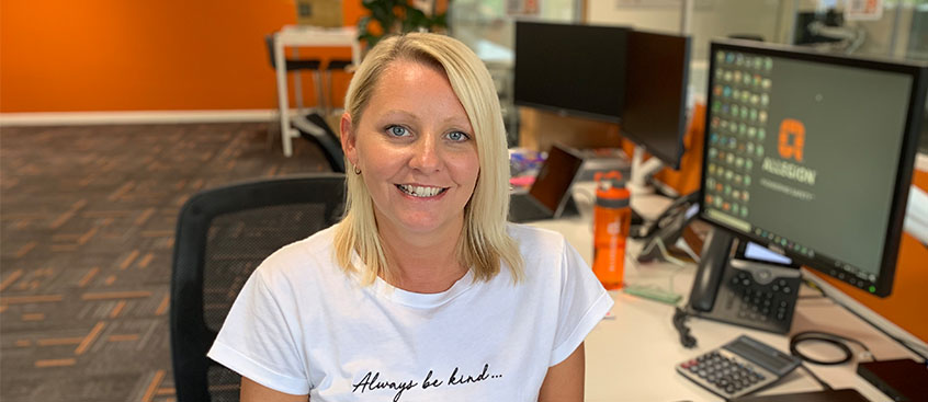 Sarah Jones carries on fourth-generation family employment with Allegion